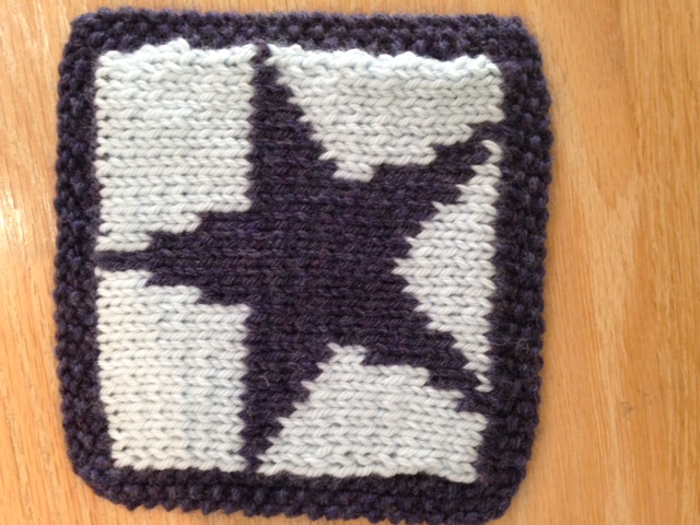 Double Knit Star Square