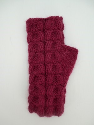 Magic Loop Cabled Mitts